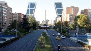 Trafico durante el estado de alarma en Madrid