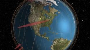 El posible impacto de los dos objetos de basura espacial sería el...