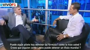 Schumacher, durante la entrevista en 2008 en la que habló sobre...