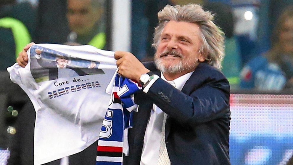 El presidente de la Sampdoria, Massimo Ferrero