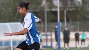 Nadezhda Karpova durante un partido con el Espanyol.