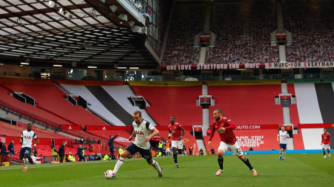 Imagen del United Tottenham en Old Trafford