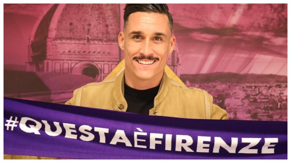 José Callejón, en su presentación con la Fiorentina.