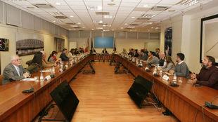 Reunión en la sede del Comité Paralímpico Español.