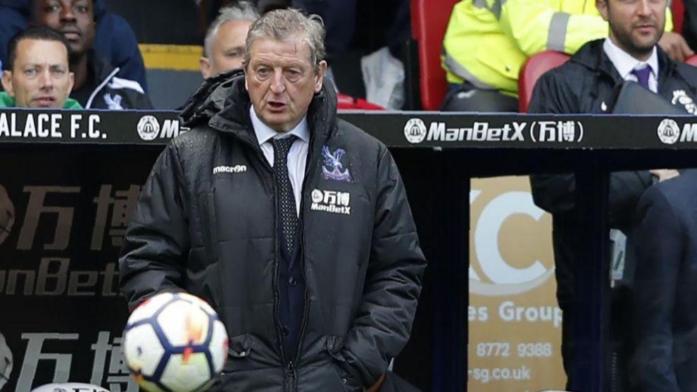 Roy Hodgson, durante un partido con el Crystal Palace