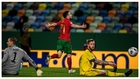 Diogo Jota celebra su primer gol contra Suecia.