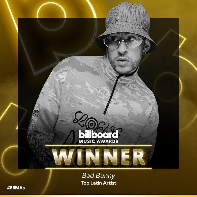 Billboard 2020 Bad Bunny Gana El Premio Al Mejor Artista Latino En Los Billboard 2020 Marca Claro Mexico