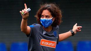 Natalia Arroyo, durante un entrenamiento de la pretemporada.