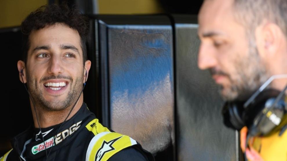 Ricciardo y Abiteboul.
