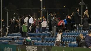 Las gradas de la Ciudad Deportiva.
