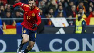 Fabián Ruiz durante un partido de la Selección.