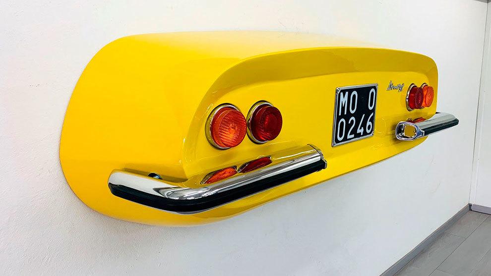 Por esta replica de una parte trasera de Ferrari 246 Dino piden 4.900...