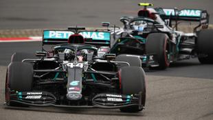 Lewis Hamilton y Valtteri Bottas.