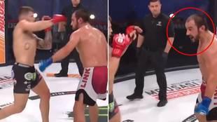 La acción más 'loca' de las MMA: recibe una ráfaga de puños... ¡y pide más a su rival!