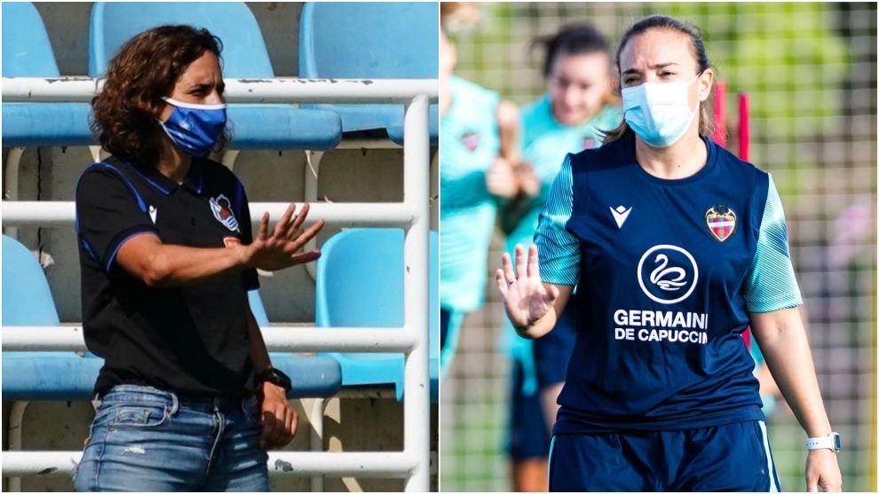Natalia Arroyo y María Pry, entrenadoras de Real Sociedad y Levante.