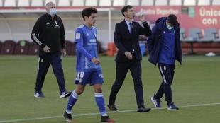 Cuco Ziganda, entrenador del Oviedo.