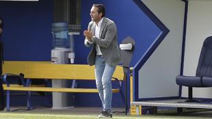 Rubén Baraja en el partido de LaLiga SmartBank entre el Alcorcón y...