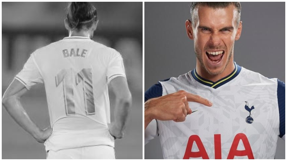 The five differences that show 'Gary' Bale is another player with Tottenham Hotspur