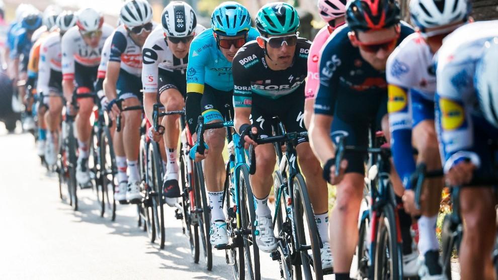 Los corredores del Giro de Italia