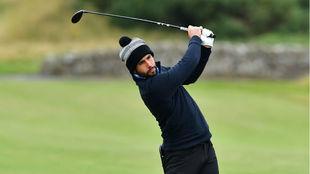 Adrián Otaegui, durante la primera jornada en Escocia.