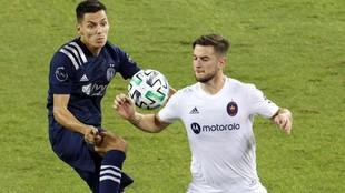 Álvaro Medrán, en un partido de la MLS.
