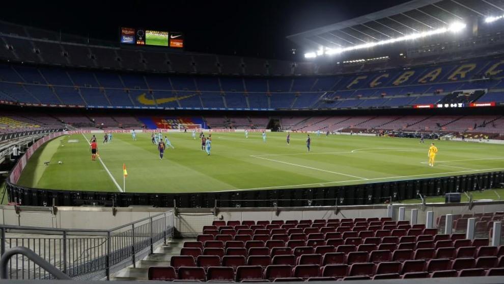 Imagen del Camp Nou en el encuentro de la pasada temporada contra el...