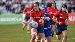 Maria Calvo, en un partido de la selección