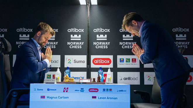 Aronian amarga a Carlsen su victoria en el 8ª Altibox Norway Chess
