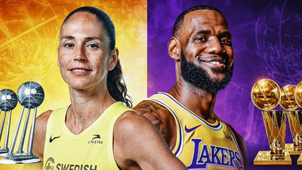 Sue Bird y LeBron James