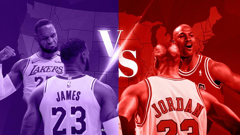 Montaje con LeBron James y Michael Jordan
