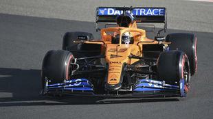 Carlos Sainz, durante el pasado GP de Eifel en Nurburgring, donde fue...