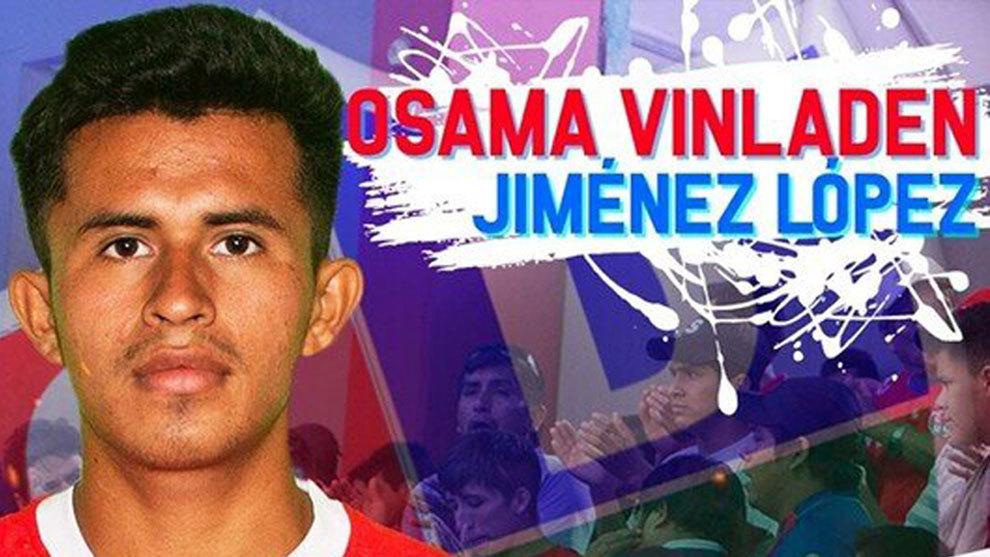 Él es Osama Vinladen, jugador de fútbol en Perú.