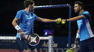 Franco Stupaczuk y Sanyo Gutiérrez, durante la semifinal.