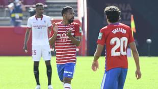 Yangel Herrera en el encuentro entre el Granada CF y el Sevilla CF en...