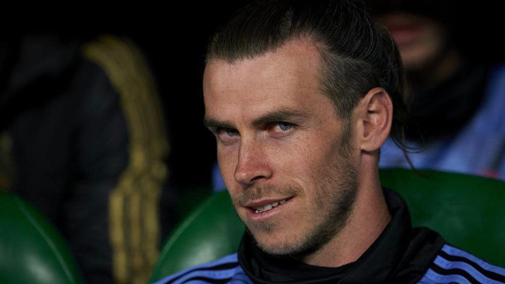 Gareth Bale, en el banquillo durante su etapa en el Real Madrid