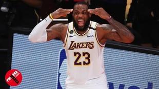 LeBron James, durante el sexto y último partido de la final de la NBA...