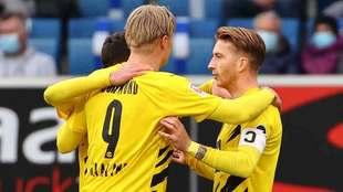 Haaland y Reus le dan la victoria al Borussia Dortmund.