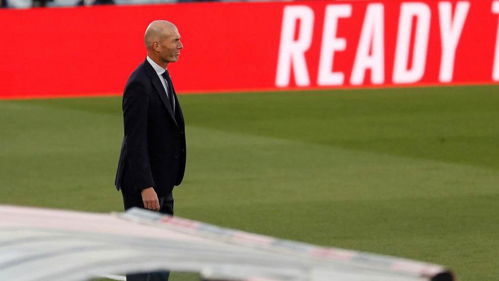 Zinedine Zidane, durante el partido ante el Cádiz