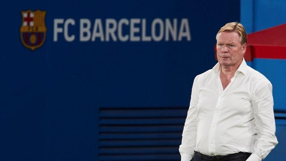 Ronald Koeman, durante un partido del Barcelona