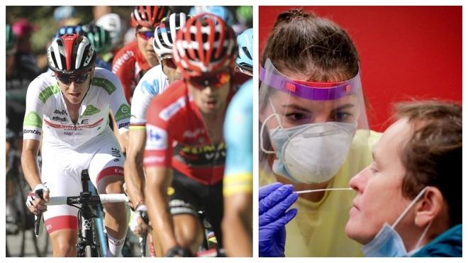 Imágenes de la Vuelta 2019 y de la extracción para prueba PCR.