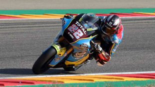 Sam Lowes, en Aragón.