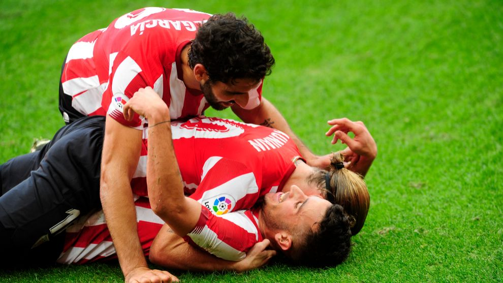 Los jugadores del Athletic se han quitado un peso de encima tras la...