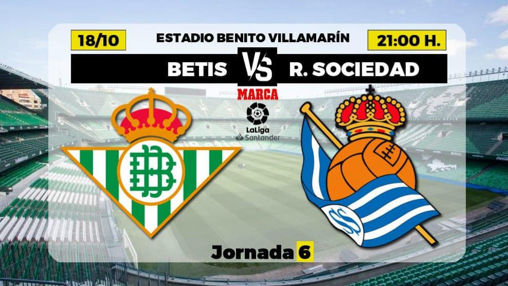 Betis - Real Sociedad   18 de octubre a las 21.00 horas