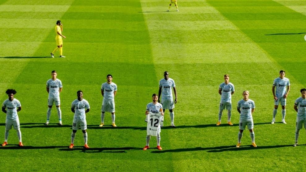 El Valencia recuerda a Españeta antes del derbi contra el Villarreal