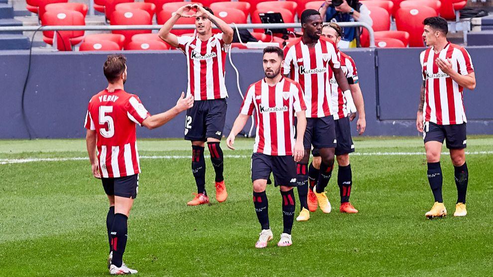 El Athletic respira tras su primera victoria del curso en San Mamés.