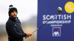 Adrián Otaegui durante la última jornada del Campeonato de Escocia.