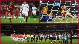 Partidos del Sevilla en Anfield, Turín y Emirates.