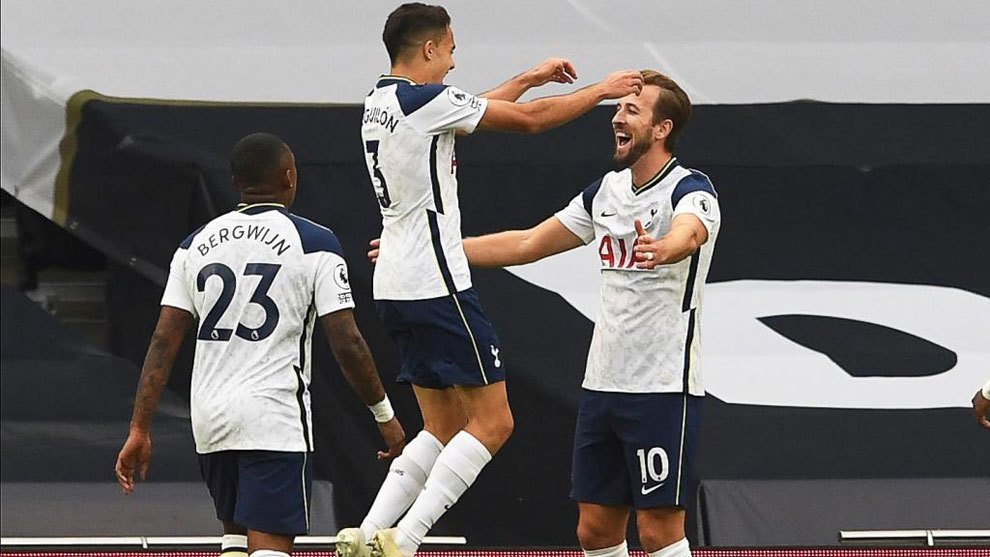 Vendaval del Tottenham: otro de Kane a pase de Reguilón