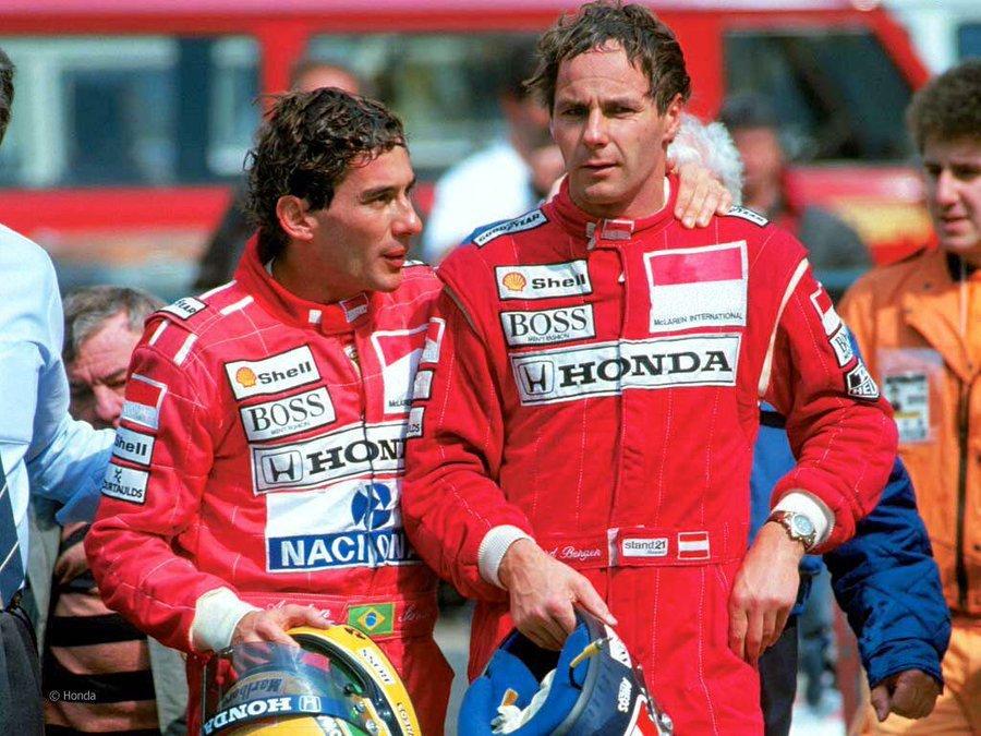 Senna, con Berger.