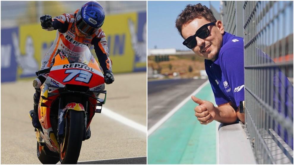 Alex Marquez y Jorge Lorenzo